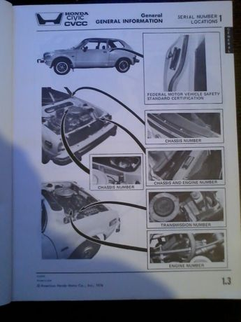 Honda civic 1979 manual de mecânico