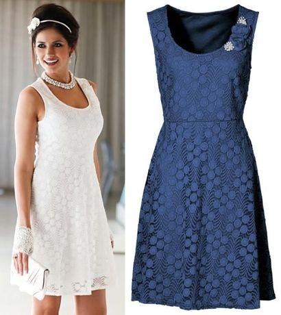 sukienka elegancka/koronkowa/midi/ koktajlowa