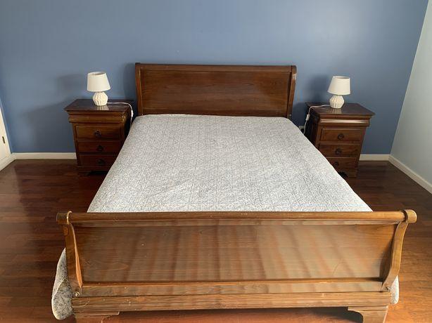 Urgente-Mobília de quarto estilo Queen Anne (cama casal,mesas,espelho)