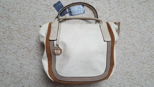 Nowa kremowa damska torebka