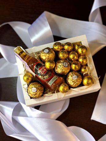 Подарункова коробка/подарунок/подарок/бокс/цвети/подарунковий набір