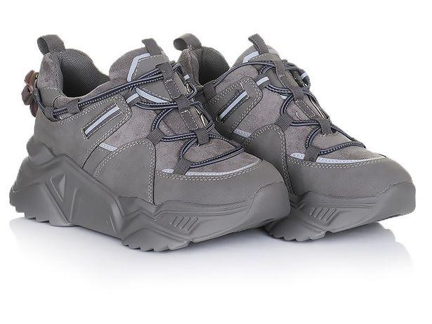 Серые женские кроссовки зимние зима обувь 36 37 38 40