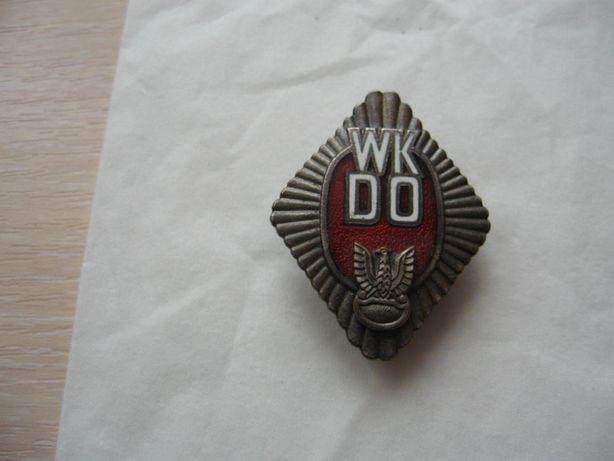 Wojskowa odznaka WKDO dla kolekcjonera