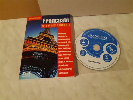 Francuski w cztery tyģodnie - kurs podstawowy - książka + CD - wyd.REA