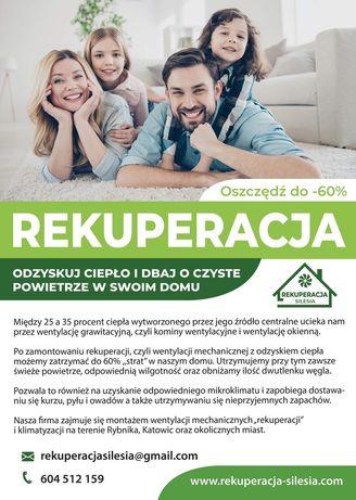 Rekuperacja klimatyzacja Rybnik Katowice i okolice