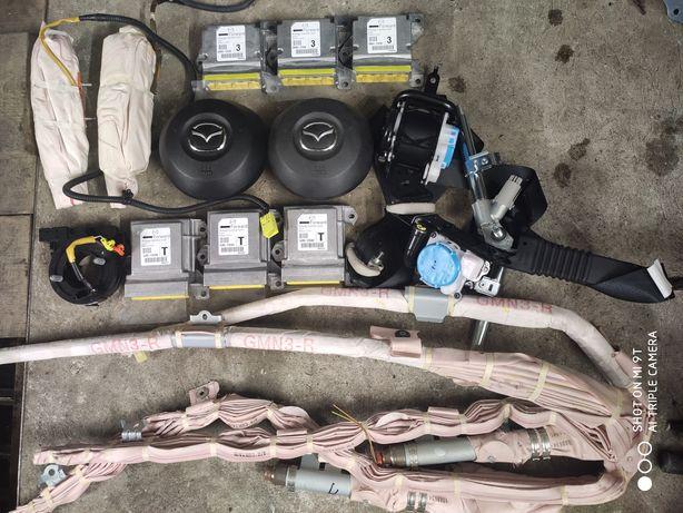 Торпеда подушки ремни шторы безопасность Mazda 6 gj разборка запчасти