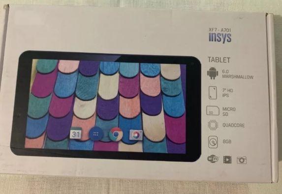 Tablet INSYS XF7-A701 com vidro partido São Martinho - imagem 1
