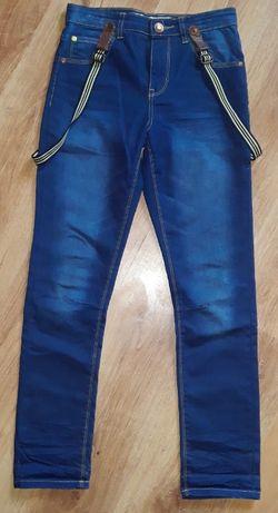 Spodnie/bermudy/jeansy/rurki/dresy PRIMARK ANGLIA 140/146/152 7 szt