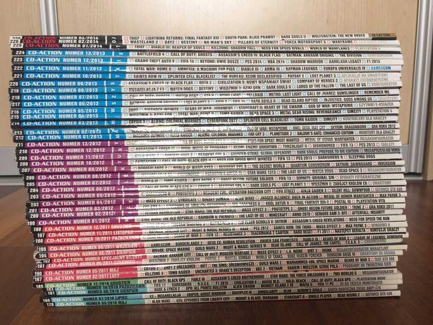 CD Action wydania z lat 2010 - 2014 razem z płytami CD