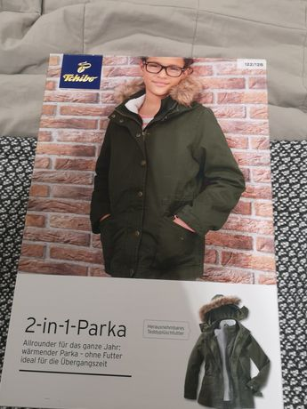 Nowa kurtka tchibo 2 w 1 rozm. 122-128 jesień /zima/wiosna