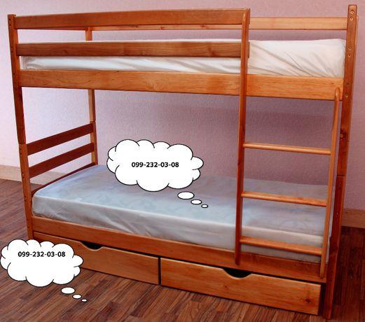 Кровать двухъярусная *Дуэт* с ольхи от производителя.По акции комплект