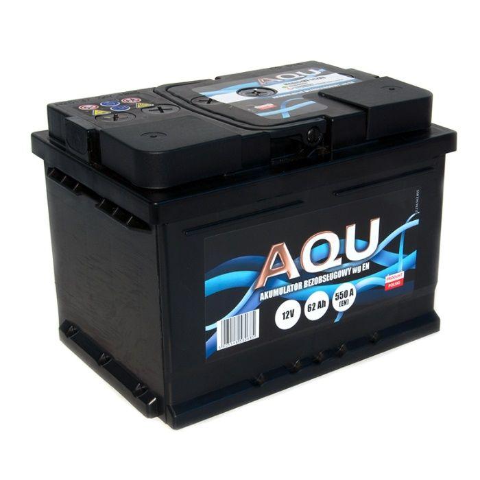 Akumulator 12V 62Ah 550A AQU Autopart Dowóz Montaż Płatność kartą 60ah