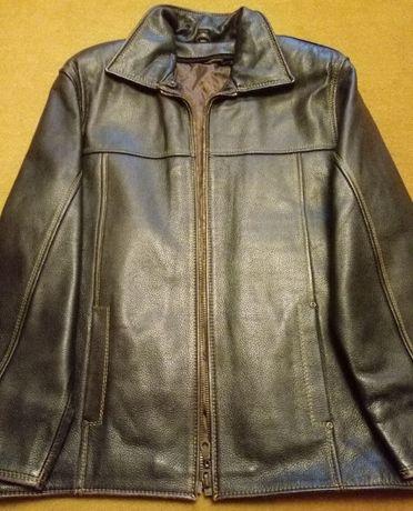 Кожаная зимняя куртка №2 / рр 50-52