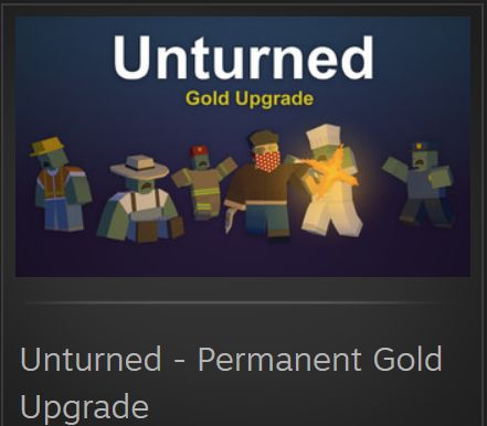 Unturned Pernament Gold Upgrade przepustka vpn Gift