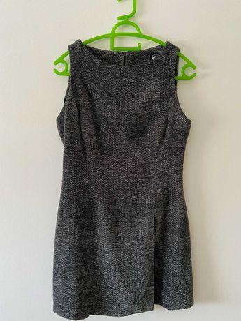 Vestido cinzento sem marca, tamanho L