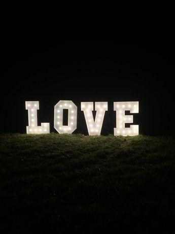 Napis LOVE XL RETRO 140 cm 200 zł największy na pomorzu