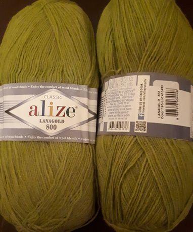 Нитки для вязания Alize lanagold 800 номер 193