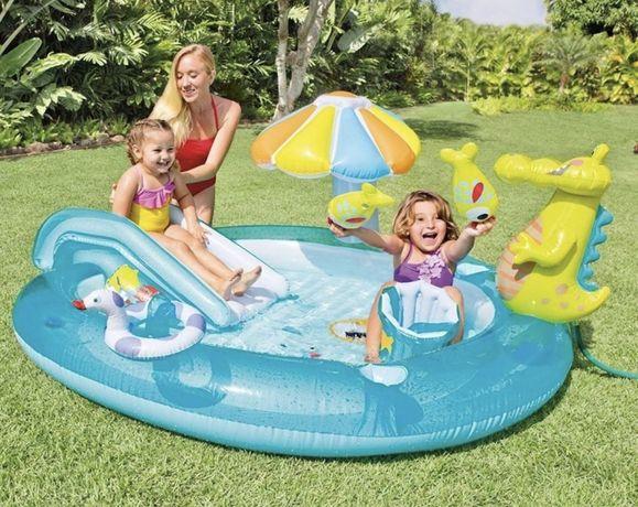 Детский надувной центр бассейн Аллигатор Intex 57165 ! ХИТ СЕЗОНА