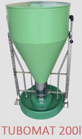 Tubomat 200l dla trzody z okrągłą miską-karmienie na mokro