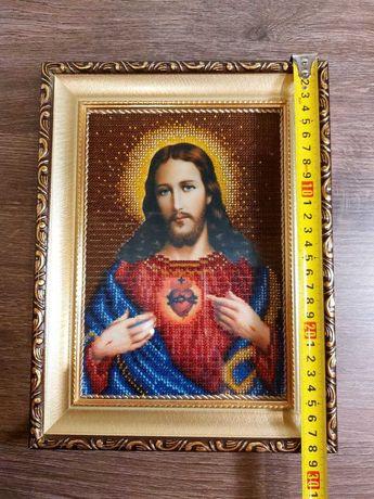 "Вышивка бисером ""Сердце Христово"""
