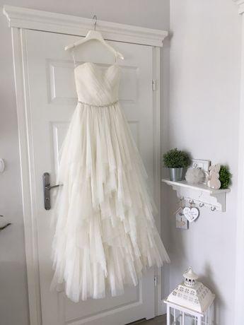 Suknia slubna Sincerity boho romantyczna tiulowa 34