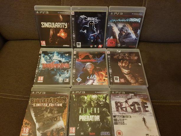 Gry Ps3. Bulletstorm, Rage, Alien vs predator, Wolfenstein, darknes...