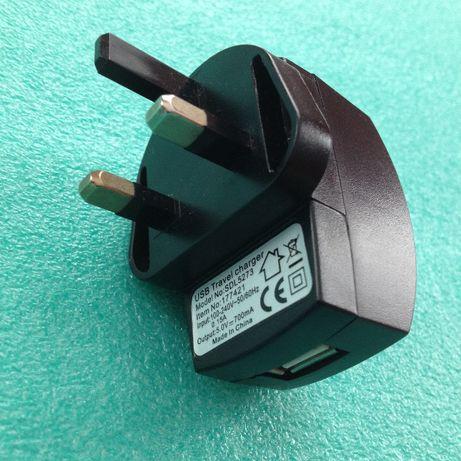 Ładowarka telefonu, z gniazdem USB, input 100-240V, output 5V