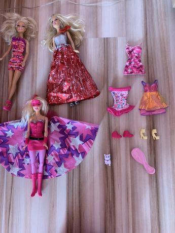 Lalki Barbie 3 sztuki plus akcesoria