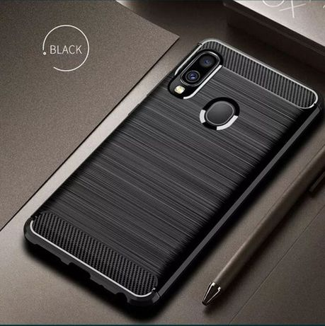 Capa Fibra Carbono Samsung A10 / A21 / A40 / S8 / S8 Plus