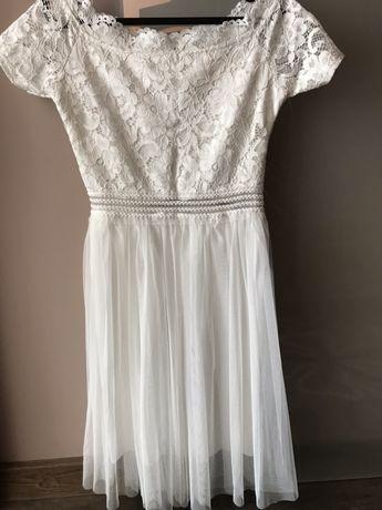 Włoska,biała sukienka  xs,s
