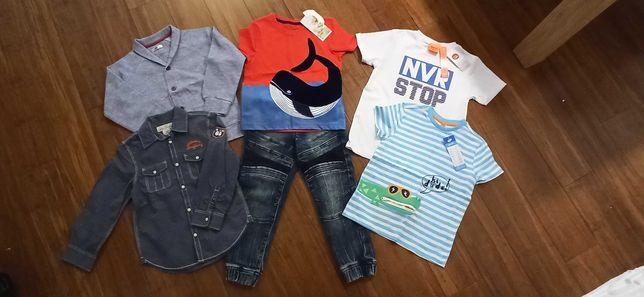 Paka ubrań dla chłopca rozmiar 116 (Nowe)