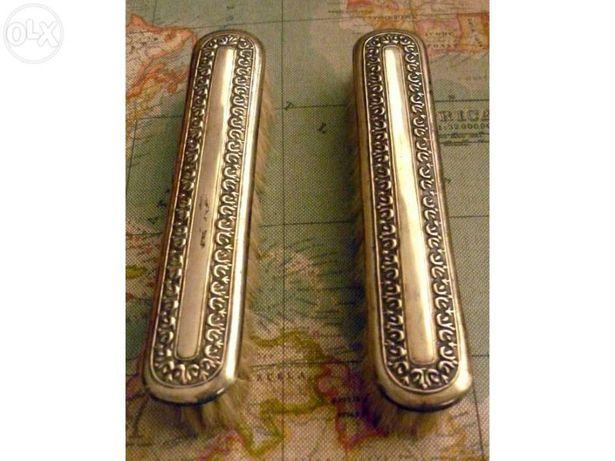 Escovas de prata trabalhada dos anos 60 e 70