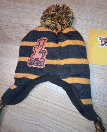 czapka zimowa 40-42cm, Scooby Doo , nowa z metką