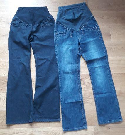 Spodnie ciążowe jeansowe - 6 par za 50 zł, top one,lei - zestaw spodni