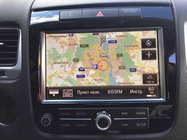 Обновление навигации VW Touareg NF RNS 850 русификация прошивка ремонт