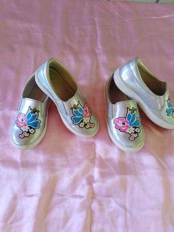 Мокасины - туфли для девочки 28р