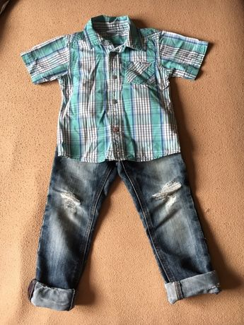 Костюм, джинси, сорочка, рубашка, брюки, комплект весняно-літній