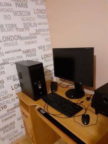 Sprzedam zestaw - komputer, monitor, głośniki, myszka, klawiatura