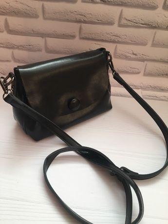 Кожаная сумка сумка через плечо
