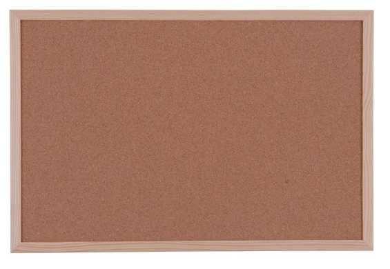 Quadro de cortiça moldura de madeira, 600 x 900 mm