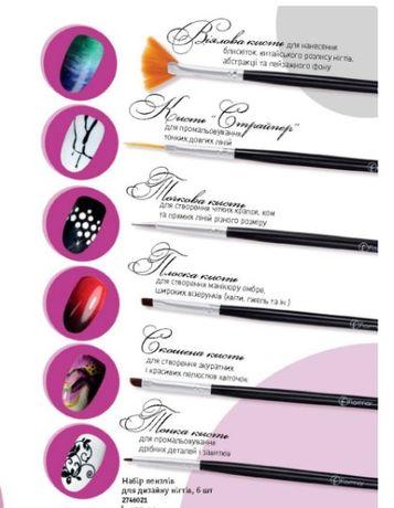 Набор кистей для дизайна ногтей Flormar