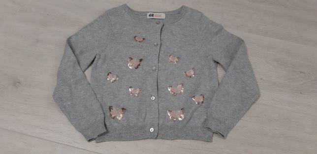Sweterek dziewczęcy motylki