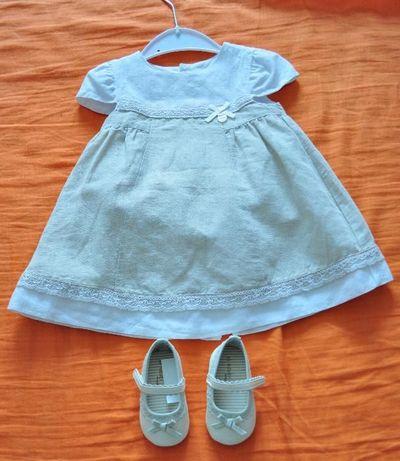 Sukienka i buciki do chrztu Mayoral rozmiar 80