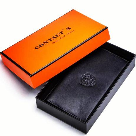 Кожаный кошелёк клатч натуральная кожа
