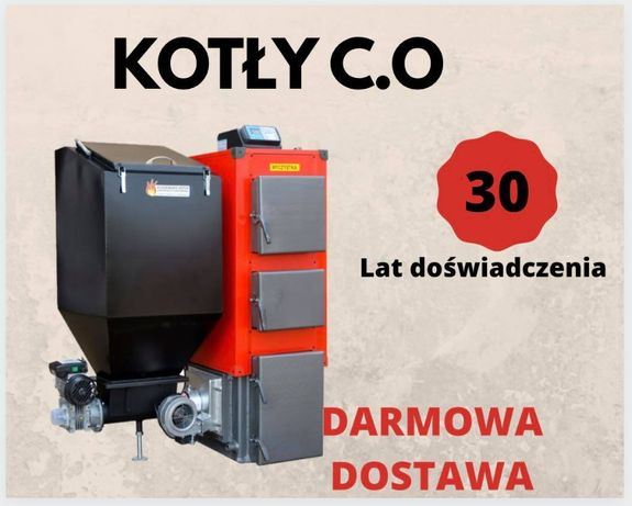 120 m2 PIECE 19 kW z PODAJNIKIEM na EKOGROSZEK Kocioł Kotly 16 17 18