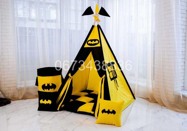 ХIТ! Палатка Намет Вігвам «БЕТМЕН» Чорно-Жовтий. VIGVAM ELIT