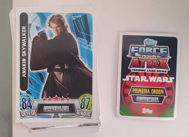 Cromos colecção The Force Attax-Star Wars e Fome de Vencer-Continente