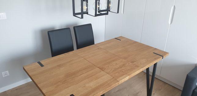 Stół rozkładany loft. Drewno dębowe. Prowadnice teleskopowe.