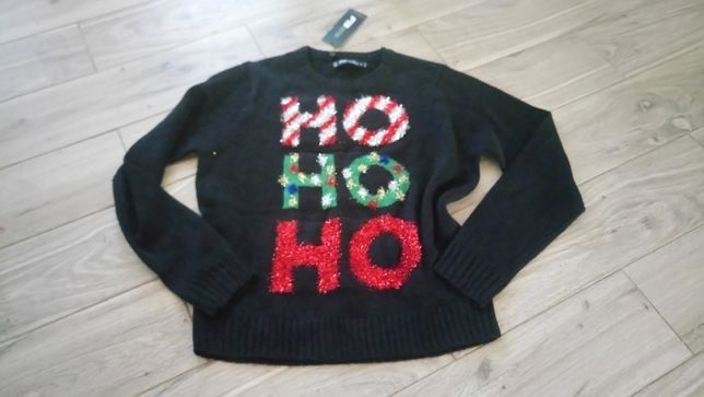 Świąteczny sweter HO HO HO