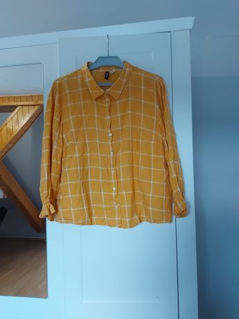 Musztardowa koszula w kratę